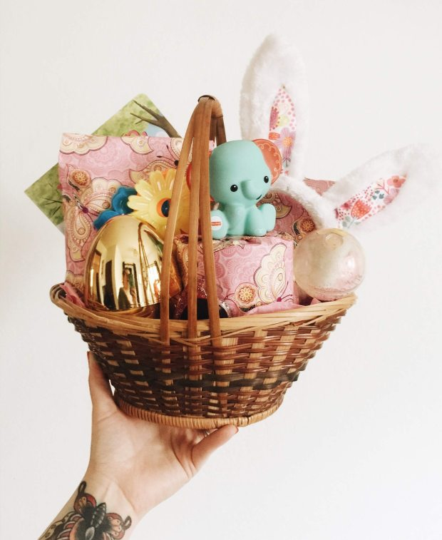 white-and-pink-rabbit-figurine-on-brown-woven-basket-4032753