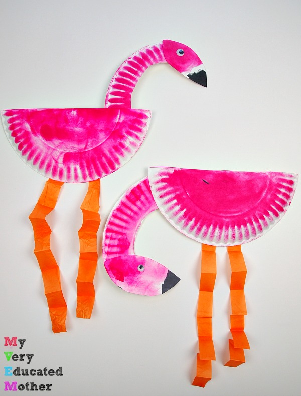 Pink Power Paper Plate Flamingos